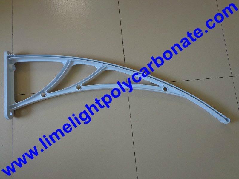 White awning bracket