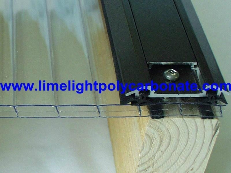 Aluminium Glazing Bar for Polycarbonate Sheet