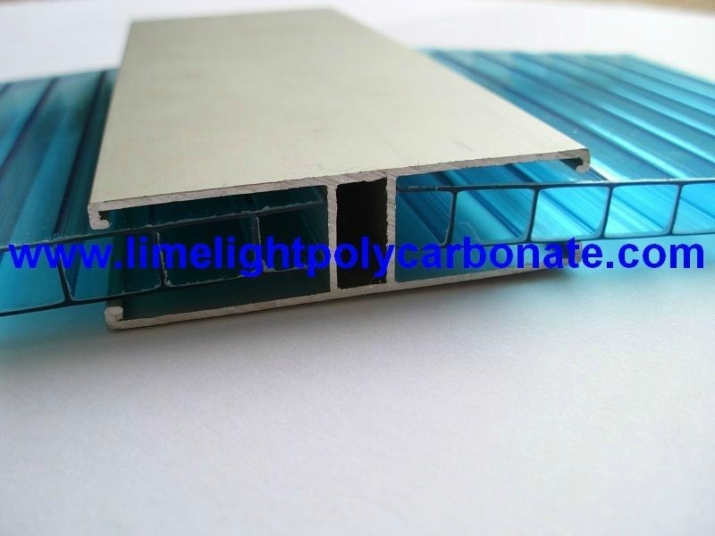 Aluminium H Profile for Multiwall Polycarbonate Sheet