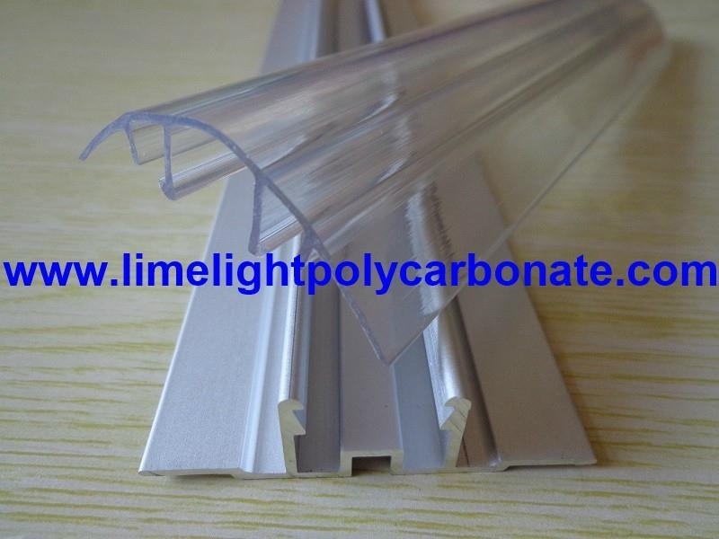 Aluminium Base + Polycarbonate Cap Profile