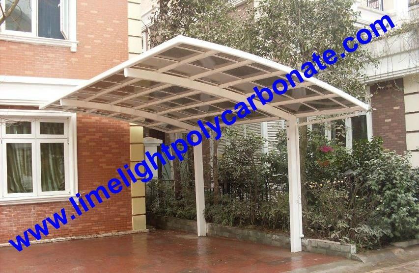 villa carport garage aluminium carport polycarbonate carport PC carport roofing 2