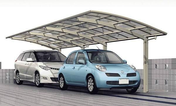 Extended aluminium carport