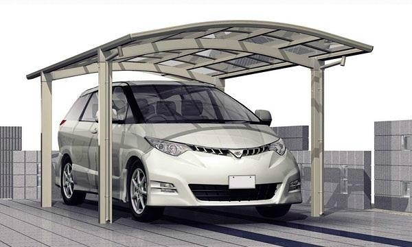 Single through aluminium carport