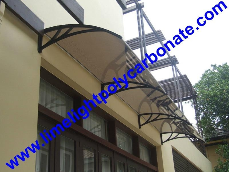 Commercial And Private Awning Canopy Door Window Polycarbonate DIY Rain Shelter