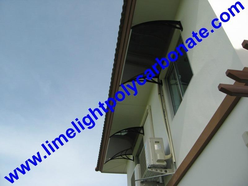 Polycarbonate awning DIY awning door canopy window awning rain awning rain shed rain shelter PC awning canopy polycarbonate