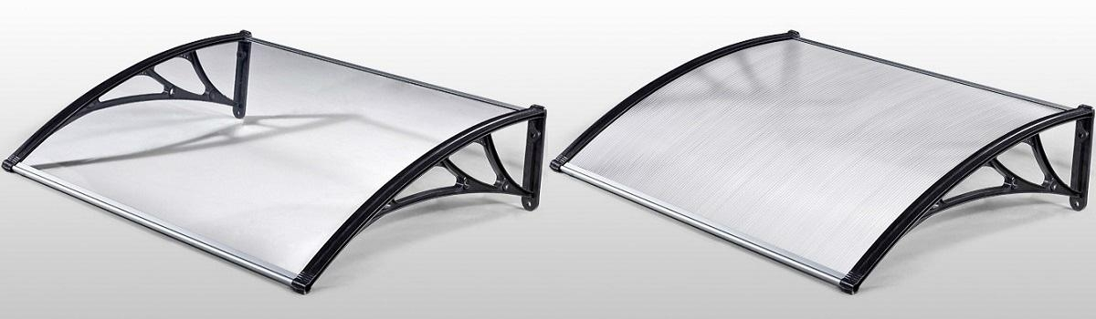 Polycarbonate Awning Kits with Polycarbonate Solid Sheet & Polycarbonate Hollow Sheet