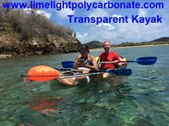 Crystal kayak clear canoe transparent kayak polycarbonate kayak ocean kayak tour