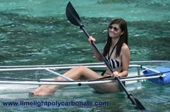 polycarbonate kayak clear canoe polycarbonate transparent kayak canoe PC kayak