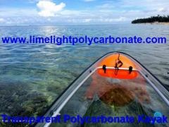 clear kayak polycarbonate canoe transparent kayak PC kayak crystal canoe clear