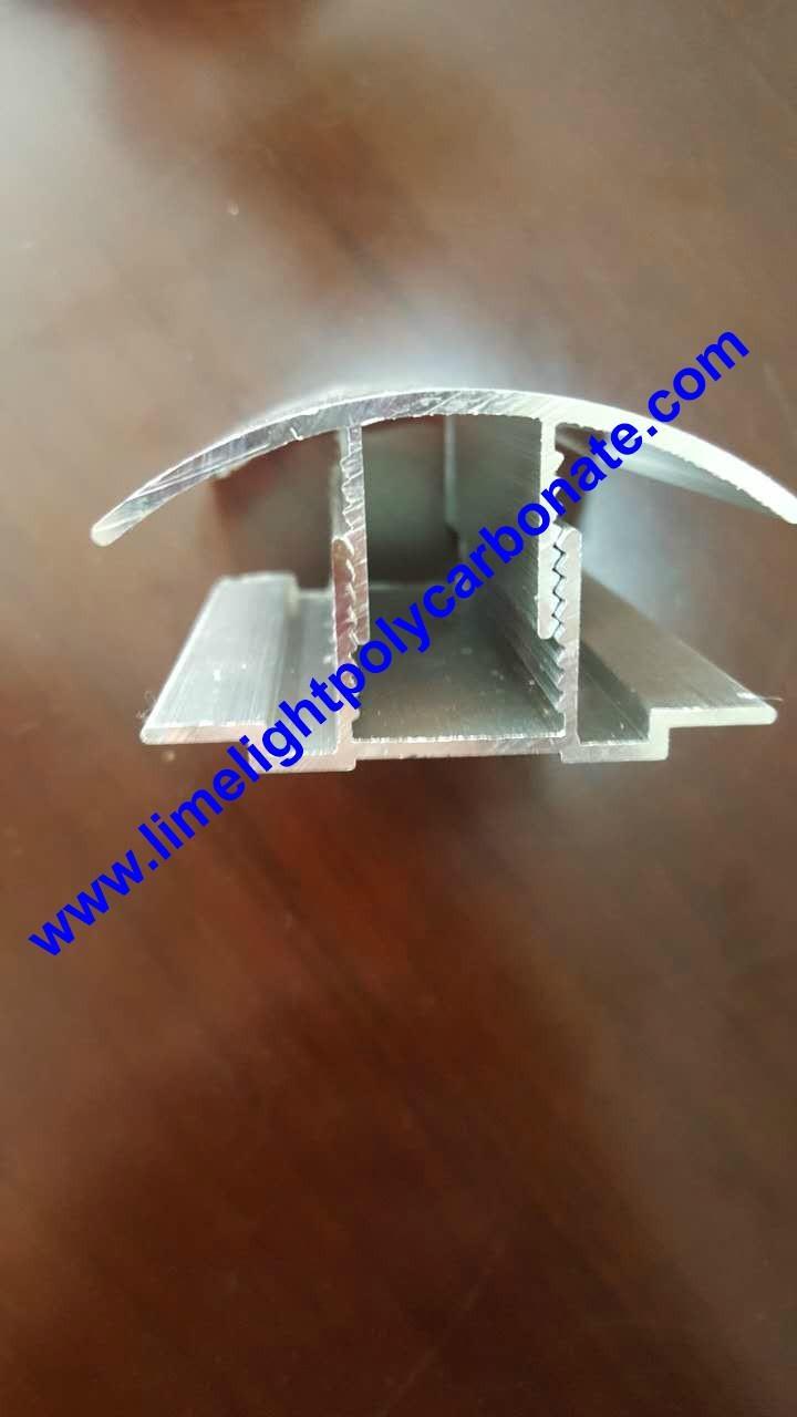 aluminium cap & base profile polycarboate sheet accessory aluminium H connector 13