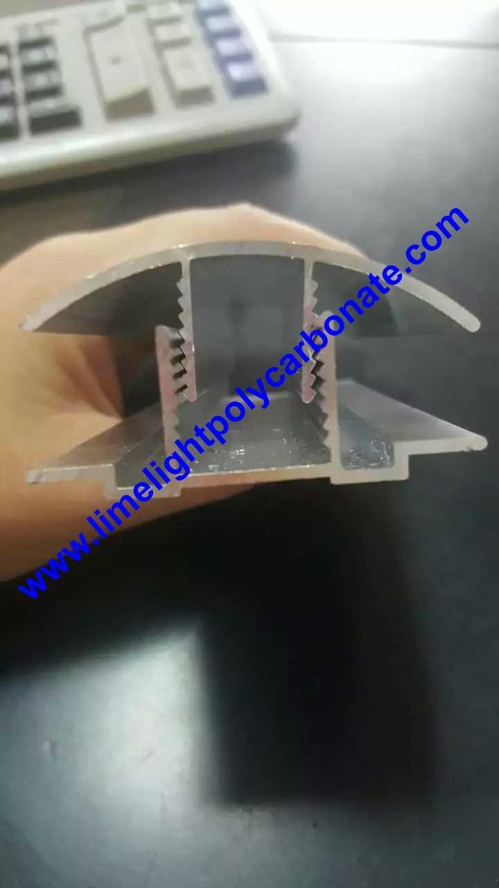 aluminium cap & base profile polycarboate sheet accessory aluminium H connector 14