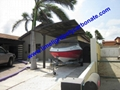 sunshade carport yacht sun protection carport aluminium frame carport boat shed 2