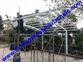 White aluminium frame and light grey polycarbonate solid sheet aluminium carport 3