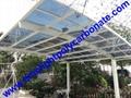 Grey aluminium frame carport with grey polycarbonate glazing carport awning