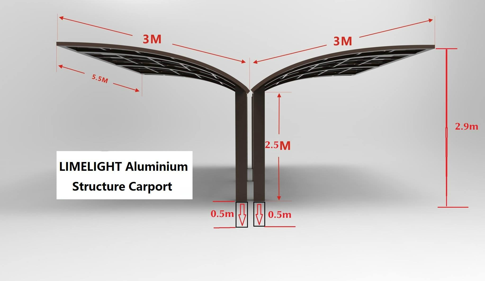 Y shape carport aluminium carport polycarbonate carport PC carport garage shade 4