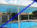 Aluminium alloy frame swimming pool cover with polycarbonate solid sheet 2