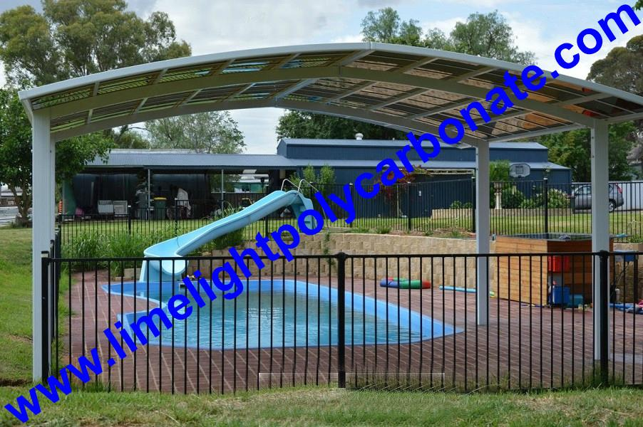 Aluminium alloy frame swimming pool cover with polycarbonate solid sheet 3