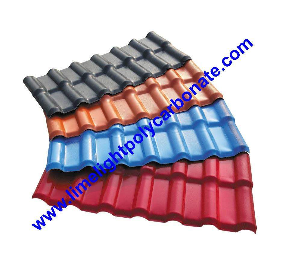 Synthetic Roofing Tiles Spanish Roofing Tiles PVC Roofing Sheet PVC Corrugated 1
