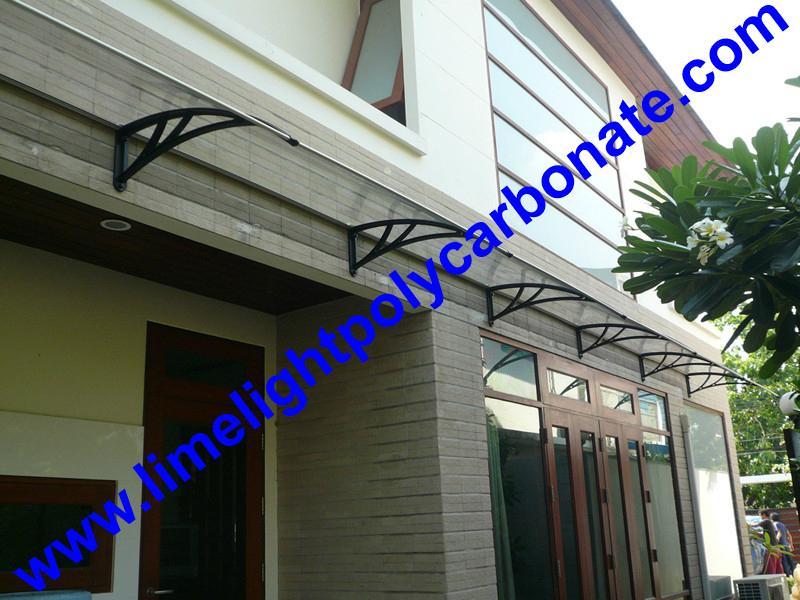 Diy Door Shelter : Polycarbonate awning door canopy diy kit