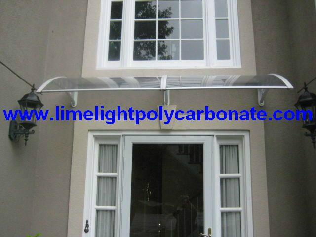 polycarbonate awning door canopy DIY awning canopy awning kit PC canopy 9