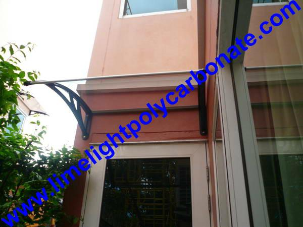 polycarbonate awning door canopy DIY awning canopy awning kit PC canopy 17