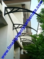 pc awning pc canopy DIY awning door canopy window awning polycarbonate shelter 15