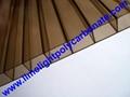 Brown polycarbonate sheet