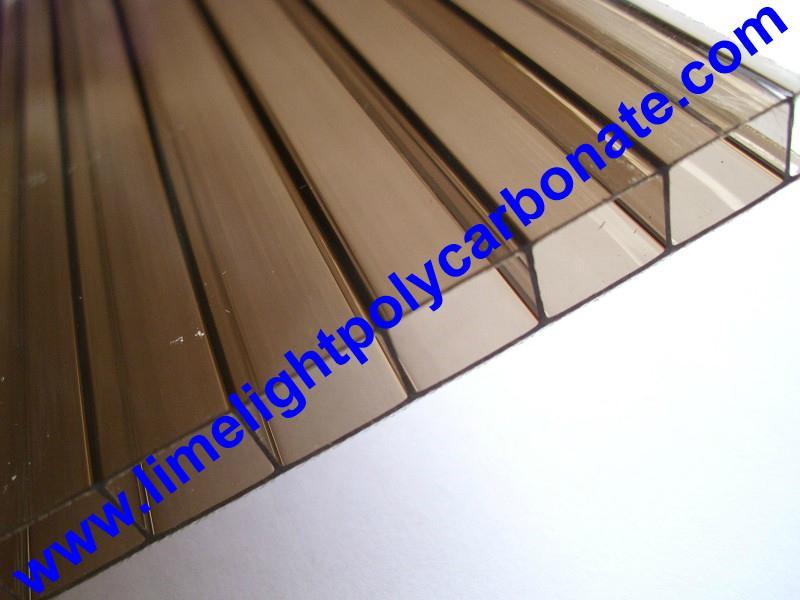 Bronze twinwall polycarbonate sheet