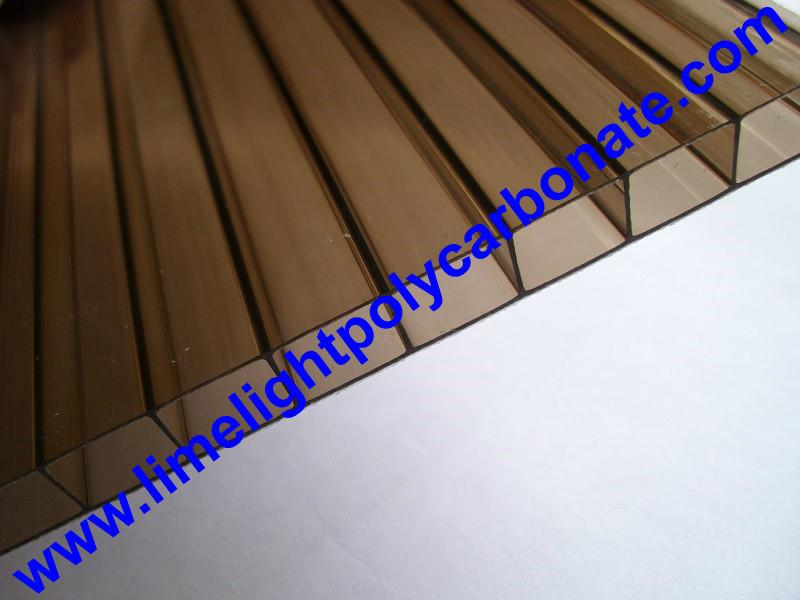 Bronze polycarbonate hollow sheet