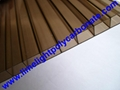 Bronze polycarbonate hollow sheet