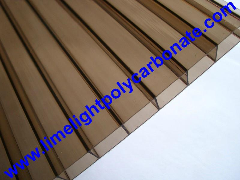 Bronze polycarbonate sheet twin wall polycarbonate panel polycarbonate glazing