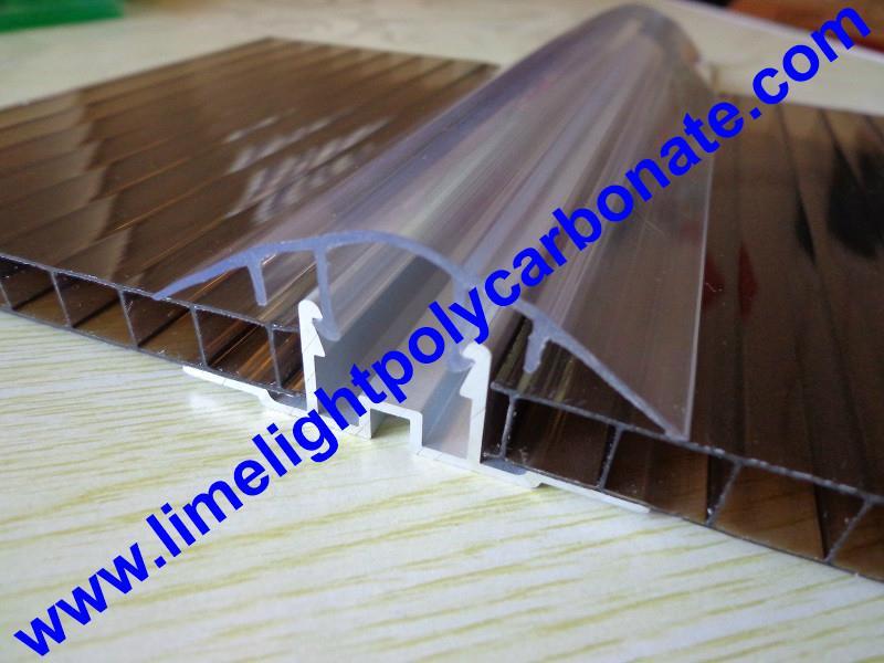 polycarbonate cap aluminium base profile h clip profile. Black Bedroom Furniture Sets. Home Design Ideas