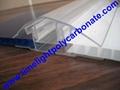 polycarbonate connector polycarbonate cap & base profile pc sheet accessories 2