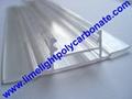 polycarbonate connector polycarbonate cap & base profile pc sheet accessories 16