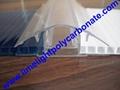 polycarbonate connector polycarbonate cap & base profile pc sheet accessories 3