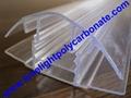 polycarbonate connector polycarbonate cap & base profile pc sheet accessories 19