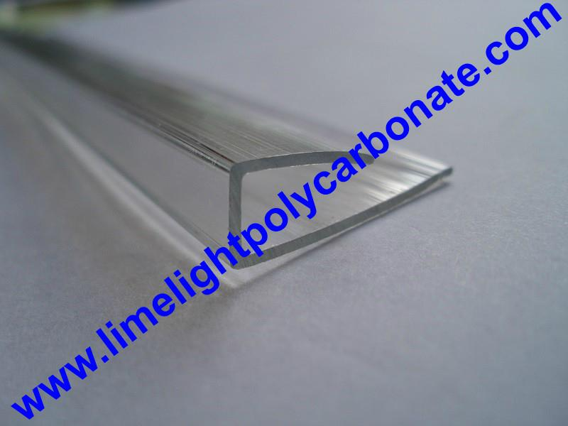 PC-U profile for polycarbonate hollow sheet with thickness 4mm 6mm 8mm 10mm 16mm 4