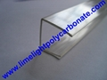 PC-U profile for polycarbonate hollow sheet with thickness 4mm 6mm 8mm 10mm 16mm 6