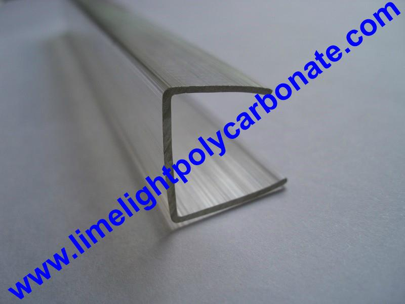 PC-U profile for polycarbonate hollow sheet with thickness 4mm 6mm 8mm 10mm 16mm 7