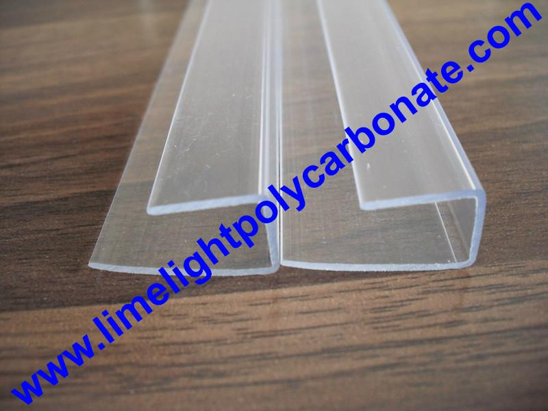 PC-U profile for polycarbonate hollow sheet with thickness 4mm 6mm 8mm 10mm 16mm 10