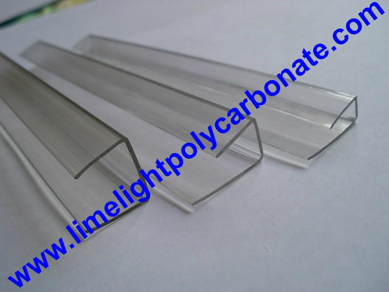 PC-U profile for polycarbonate hollow sheet with thickness 4mm 6mm 8mm 10mm 16mm 1