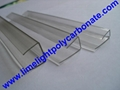 PC-U profile for polycarbonate hollow