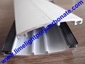 1.8mm thickness aluminium glazing bar with EPDM gasket for polycarbonate sheets