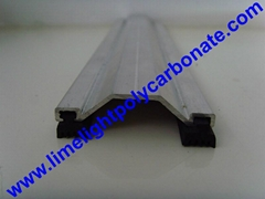 aluminium profile aluminium capping bar polycarbonate sheet profiles accessories