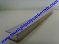 Quality aluminium capping bar with EPDM gasket for multiwall polycarbonate sheet 6