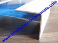 Aluminium F profile for end closure of PC sheet on the beam or side wall fixing 9