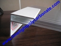 Aluminium F profile for end closure of PC sheet on the beam or side wall fixing 2