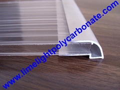 aluminium U profile polycarbonate sheet accessories pc sheet profile pc sheet