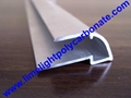 alu U profile for polycarbonate hollow sheet