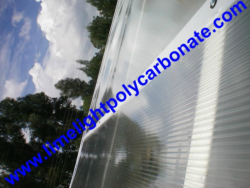 1mm wall thickness aluminium H profile for 8mm & 10mm polycarbonate hollow sheet 9
